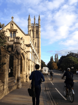 A street in Oxford on a summers day