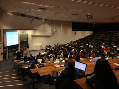 Lecture hall at a university