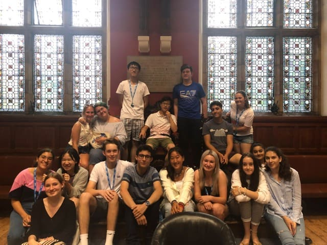 Summer school students in the Oxford Union