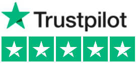 Five star reviews at Trustpilot