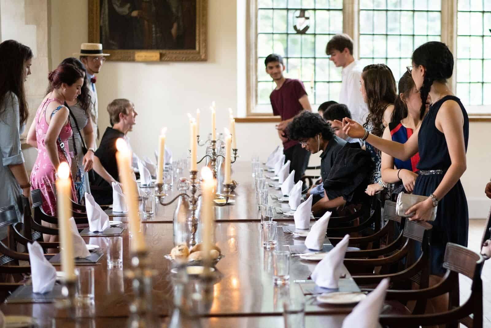 Student dinner at Wadham College