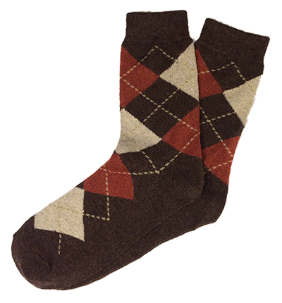 Brown Wool Argyle