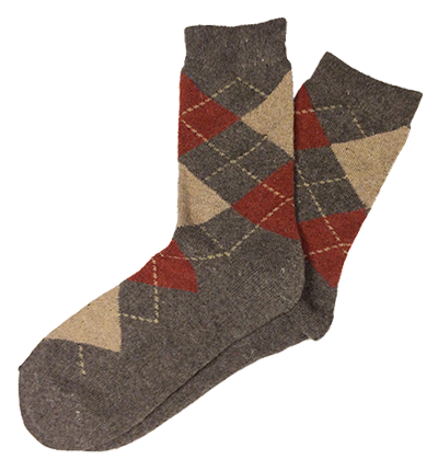 Gray Wool Argyle