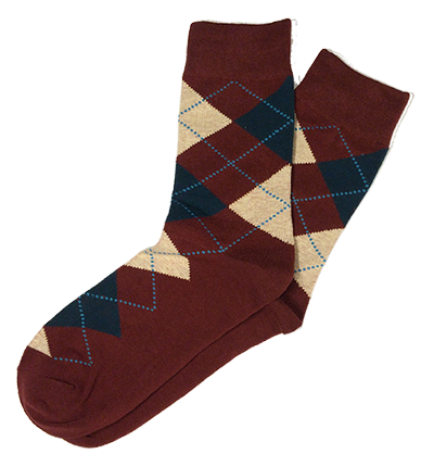 Maroon Cotton Argyle