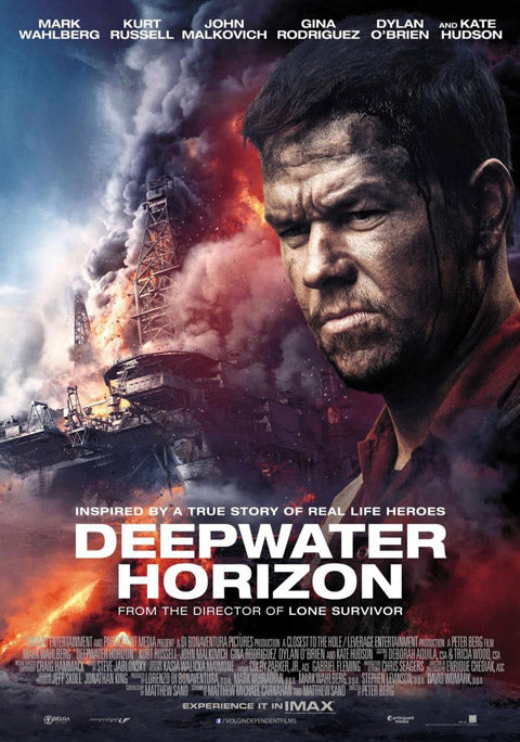 Deepwater horizon poster, Mark Wahlberg, temporary tattoo