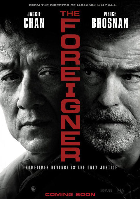 Foreigner movie poster, Jackie Chan, Pierce Brosnan, temporary tattoos