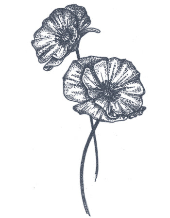 Dotwork Poppy Flower