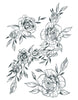 Flower Ornaments Set B/W