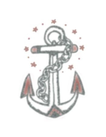 traditional anchor tattoo design, anchor temporary tattoo