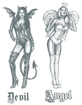 Angel and Devil Pin-Up girls