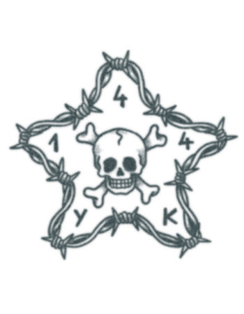 Barbwire star with Skull