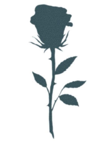 Rose Silhouette Tattoo