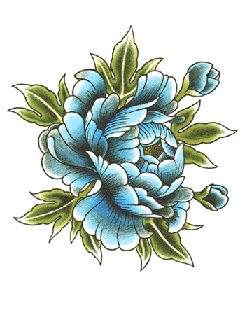 Small Blue Peony D