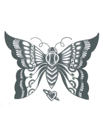 butterfly temporary tattoo, black butterfly tattoo design