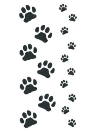 Cat and kitten paws temporary tattoo, kitten paw small temporary tattoo