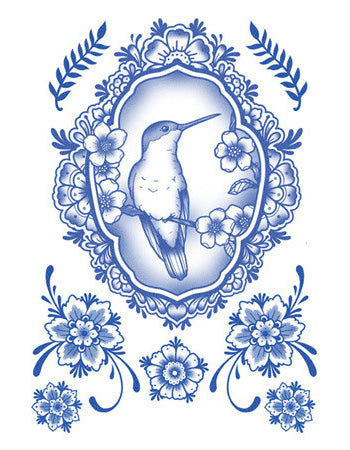 Delft Birds and Flowers - Set 05
