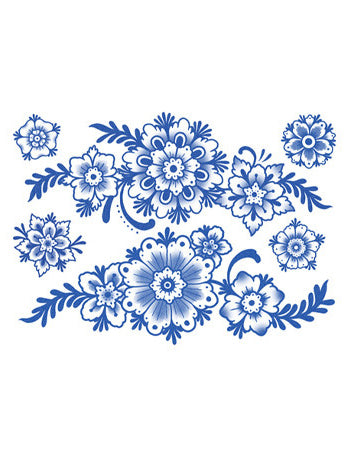 Delft Floral Ornaments