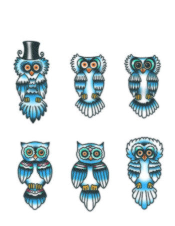 Finger Owls Blue