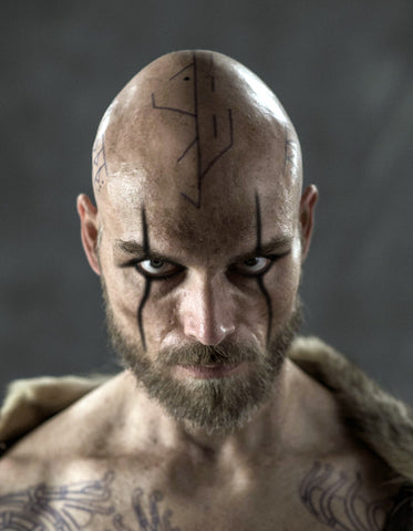 Floki Vikings Tattoo Set ( Arm & Head Rune Tattoos)