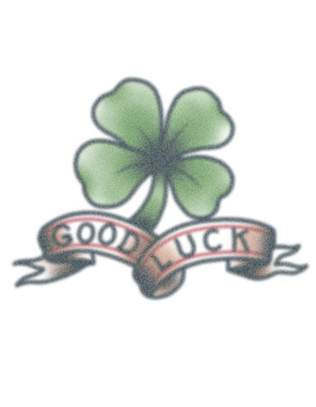 Good Luck Shamrock tattoo