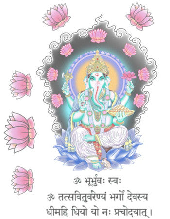 Ganesha with Pink Lotus