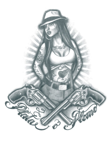 Gangster Chola Girl (Silver or Bullet)