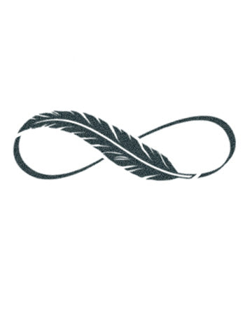 Infinity Feather Tattoo