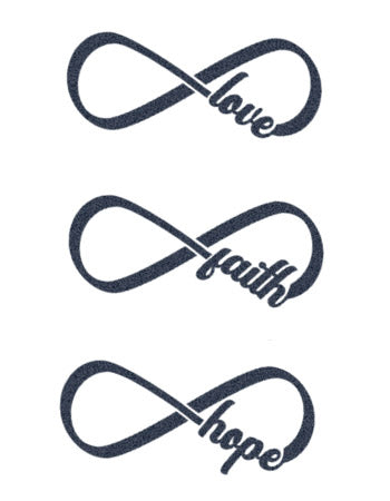Infinity symbol tattoo: Love-Faith-Hope