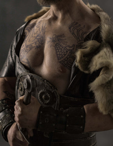 Ivar the Boneless Chest Tattoo Set- Vikings Tv Series