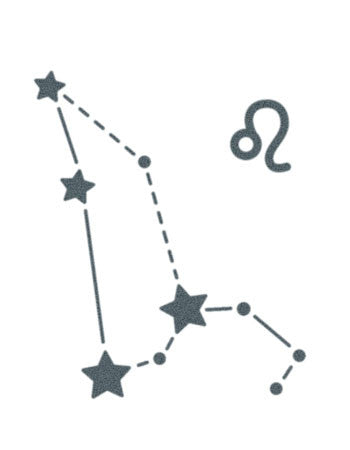 Leo sign constellation stars tattooednow ltd for Best star sign for leo