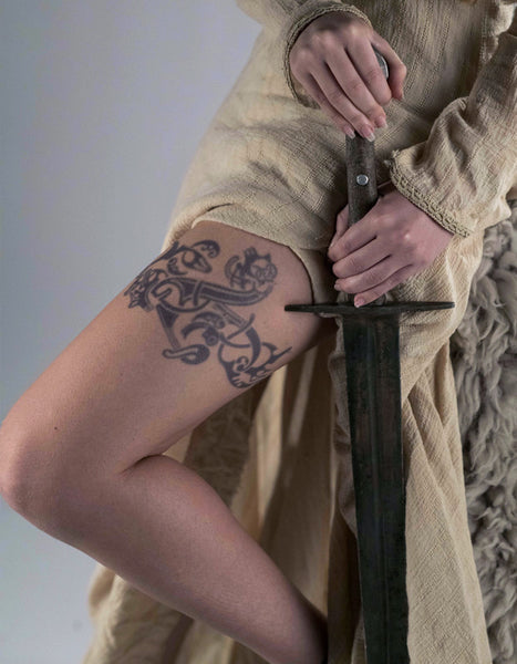 Lagertha Leg Tattoo- Vikings Tv Series
