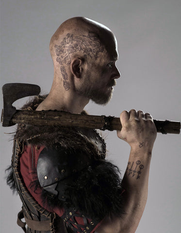 Ragnar Head Tattoo Set -Vikings Tv Series