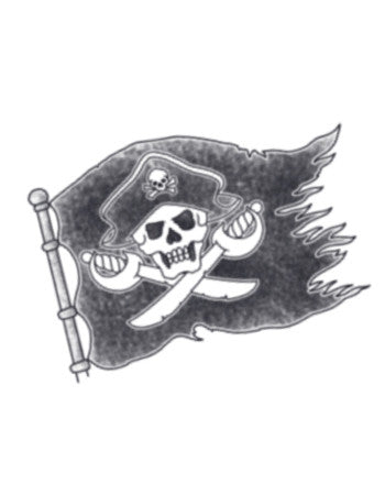 pirate temporary tattoo