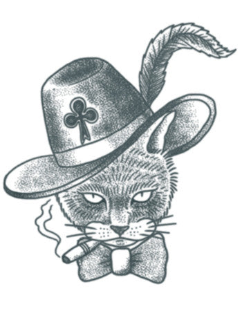 Prison Cat Tattoo (Symbol of Thieves)