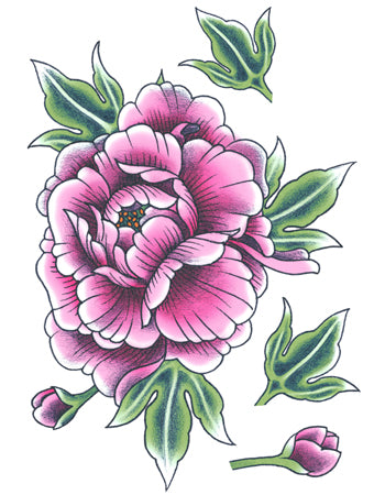 Purple Peony Flower B (Big)
