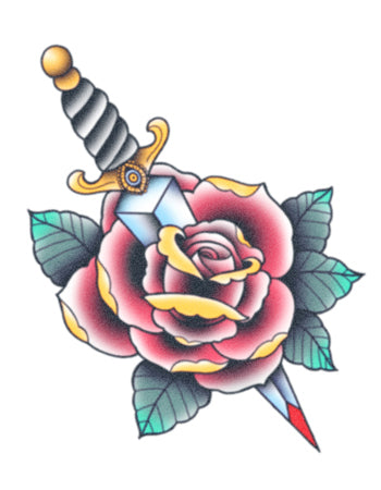 Rose And Dagger (Colour)