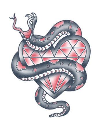Snake With Diamond Heart
