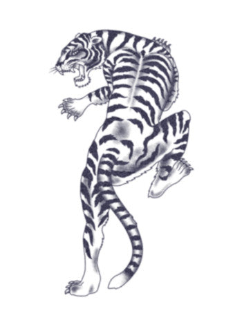 tiger realistic temporary tattoo