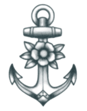 Vintage Anchor With Flower