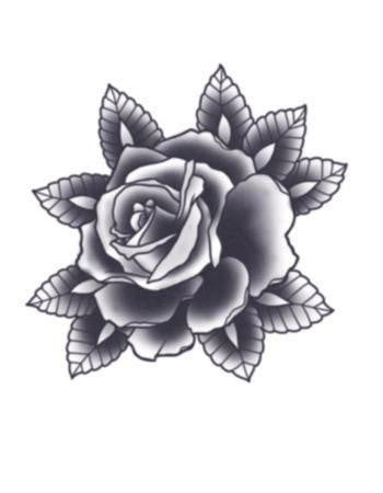 black rose tattoo, rose flower tattoo, black rose temporary tattoo