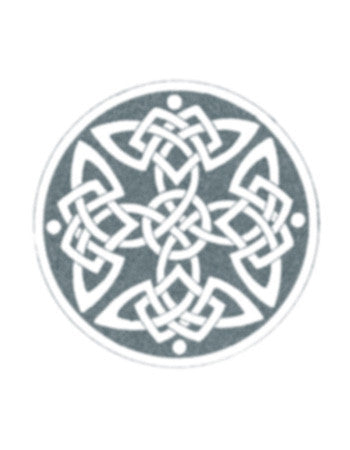 Round celtic knot temporary tattoo