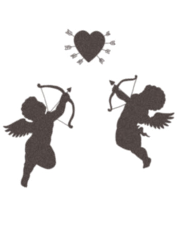Cupids temporary tattoo