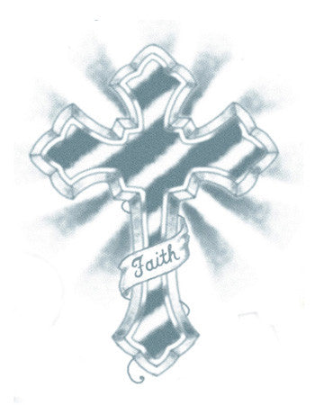 cross temporary tattoo