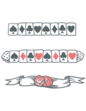 gambler temporary tattoo