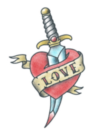 Love Heart with Dagger