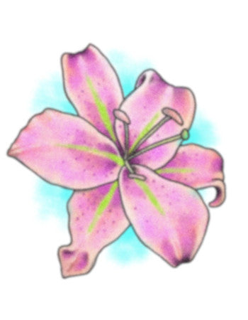 lilly temporary tattoo