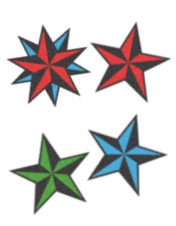 nautical stars temporary tattoo