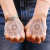 mandala om tattoos hands