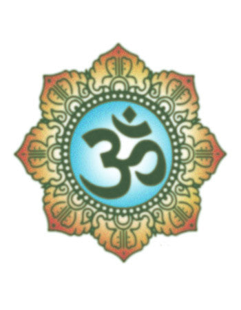 om temporary tattoo
