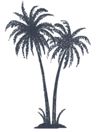 Dotwork Palm Trees Tattoo